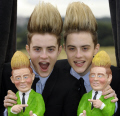 john edward grimes jedward x-factor x factor xfactor deadly duo contestants wannabees wannabes musicians celebrities celebrity fame famous star double act white caucasian portraits