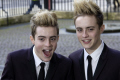edward grimes john irish pop rap duo jedward x-factor x factor xfactor contestants wannabees wannabes musicians celebrities celebrity fame famous star identical twins white caucasian portraits