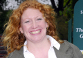 charlie dimmock british tv personality specialises gardening programs. television presenters celebrities celebrity fame famous star busty boobs white caucasian portraits