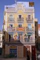spanish city tarragona mural sadassos square murals arts catalonia catalunya espagne espa wallpainting art mediterranean costa daurada durada trompe oeil brava spain spanien la spagna
