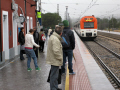 train station hospitalet infants spain tarragona region catalunya catalonia spanish espana european espagne espa renfe railway passengers costa brava spanien la spagna