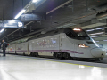 inside train station barcelona sants. platform spain high speed trains catalunya catalonia spanish espana european espagne espa renfe railway passengers costa brava spanien la spagna