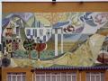 pe iscola spain mural building wall murals arts espagne espa spanish bay holiday vacation mediterranean valencia valenciana castell costa del azahar peniscola spanien la spagna