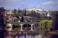 perigueux france river isle pont des barris imposing centre hospitalier distance. french landscapes european dordogne department aquitaine reflections hopital la francia frankreich