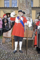 norwich city crier traditional bright red coat tricorn hat town criers costumes costumed bell christmas elm hill england historic norfolk procession staff uk english angleterre inghilterra inglaterra united kingdom british