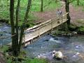 corr ze river limousin log bridge gorge laguenou french landscapes european france correze pont walking hiking hiker randonnee la francia frankreich