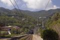 train station moneglia italian riviera european italy italia cinque terre liguria mediterranean railway transportation italien italie