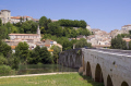 languedoc france pont vieux river orb ziers french buildings european herault rault roussillon la francia frankreich