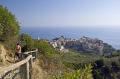 italy cinque terre walking sentiero azzurro corniglia vernazza looking village liguria italian european italia riviera mediterranean rambling hiking walkers lands italien italie