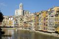 cathedral girona rio onyar catalunya catalonia spanish espana european spain spanien espa espagne la spagna