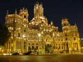 palacio communicationnes night spanish espana european madrid spain spanien espa espagne la spagna