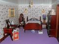 inside doll house bedroom leisure dolls model hobby pastime miniature georgian derby derbyshire england english angleterre inghilterra inglaterra united kingdom british