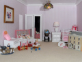inside doll house child bedroom leisure dolls model hobby pastime miniature georgian nursery derby derbyshire england english angleterre inghilterra inglaterra united kingdom british