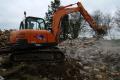 doosan 360 demolishing house construction building industry industrial uk business commerce jcb demolition united kingdom british