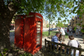 red phone boxes broadway worcestershire midlands towns england english gloucestershire angleterre inghilterra inglaterra united kingdom british