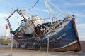 estepona costa del sol beached fishing boat harbour wall mediterranean andalucia spanish espana european spain espagna andalusia laga malaga haven marina spanien espa espagne la spagna