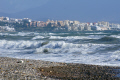 rough sea coast near estepona spain costa del sol mediterranean andalucia spanish espana european espagna andalusia laga malaga beach sandy bay surf breakers tide spanien espa espagne la spagna