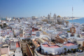 cadiz andalusia spain view city rooftops watchtower torre tavira looking east cathedral andalucia spanish espana european diz atlantic espagne espa catedral religion religious catholic spanien la spagna