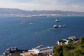 algeciras harbour taken gibraltar upper rock uk colonies spain spanish espagna andalusia costa del sol united kingdom britain british pillars hercules heracles mediterranean gibraltarian