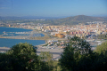 town la linea concepcion spain taken upper rock gibraltar uk colonies spanish espagna andalusia costa del sol united kingdom britain british pillars hercules heracles mediterranean maritime gibraltarian