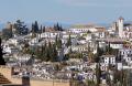 granada spain looking suburbs albayzin alhambra andalucia spanish espana european andalusia espagne espa fortress palace gardens moorish islamic muslim spanien la spagna