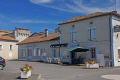 charente france bar main square village charras french buildings european poitou charentes la francia frankreich