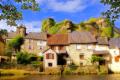 pretty village segur le chateau limousin france french ch teaus european river auvezere auv correze la francia frankreich