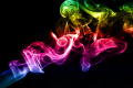 smoke smoking shapes swirls coloured black background abstracts united kingdom british