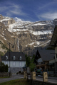 village gavarnie distant cirque french pyrenees landscapes european france hautes midi pyr es lourdes pau mountains alpine cascades waterfalls la francia frankreich