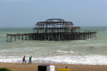 remains west pier brighton british beaches coastal coastline shoreline uk environmental beach sea wind red flag sussex home counties england english angleterre inghilterra inglaterra united kingdom