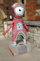 wenlock 2012 olympic mascot outside lambeth palace sport sporting london cockney england english angleterre inghilterra inglaterra united kingdom british