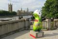 wenlock 2012 olympic mascot opposite houses parliament sport sporting westminster lambeth london cockney england english angleterre inghilterra inglaterra united kingdom british