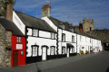 conwy cottages morning sunshine uk towns environmental north wales welsh pa gales united kingdom british