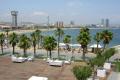 view hotel barcelona shoreline catalunya catalonia spanish espana european beach mediteranian costa spain spanien espa espagne la spagna