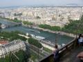 view eiffel tower looking south west seine french landscapes european paris parisienne france la francia frankreich