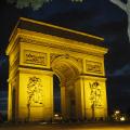 arc triomphe night french buildings european paris parisienne france la francia frankreich