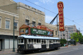 streetcar orpheum theatre memphis transport transportation tram tennessee united states american