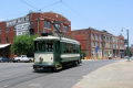 streetcar main street memphis transport transportation tram tennessee united states american