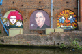 mural old warehouse huddersfield narrow canal east manchester mancunian north west northwest england english angleterre inghilterra inglaterra united kingdom british