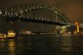 sydney harbour bridge night australian australia