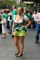 young woman saint patrick day parade sydney women female females feminine womanlike womanly womanish effeminate ladylike irish australia australian