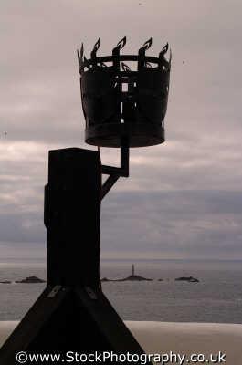 signal beacon longships lighthouse british lighthouses unusual buildings strange wierd uk cornwall cornish england english angleterre inghilterra inglaterra united kingdom