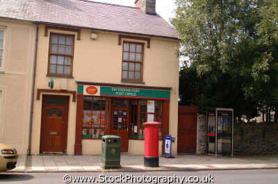 village post office temadog snowdonia uk shops commercial buildings retailers british architecture architectural swyddfa postal mail letters gwynedd wales welsh país gales united kingdom