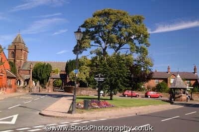 christleton village green best kept award north west northwest england english uk quaint pretty rural cheshire angleterre inghilterra inglaterra united kingdom british