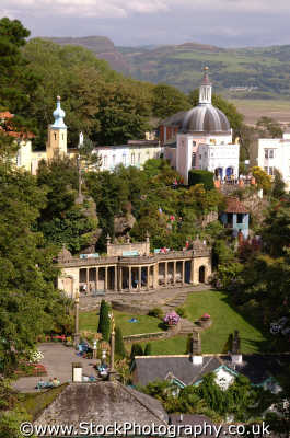 portmeirion view gazebo portmerion british architecture architectural buildings uk prisoner cult mcgoohan folly follies clough williams-ellis williams ellis williamsellis gwynedd wales welsh país gales united kingdom