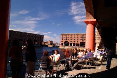 albert dock dining al fresco docks uk coastline coastal environmental scouse liverpudlian regeneration merseyside england english angleterre inghilterra inglaterra united kingdom british