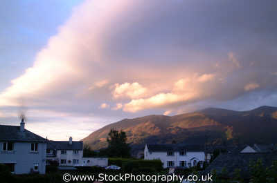 skiddaw evening keswick lake district north west northwest england english uk cumbria cumbrian angleterre inghilterra inglaterra united kingdom british