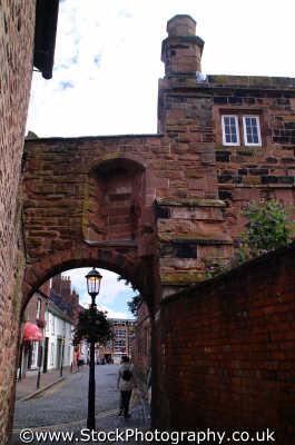 carlisle arch backstreets lake district north west northwest england english uk cumbria cumbrian angleterre inghilterra inglaterra united kingdom british