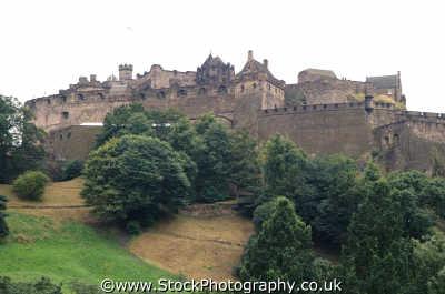 edinburgh castle scottish castles british architecture architectural buildings uk midlothian central scotland scotch scots escocia schottland united kingdom