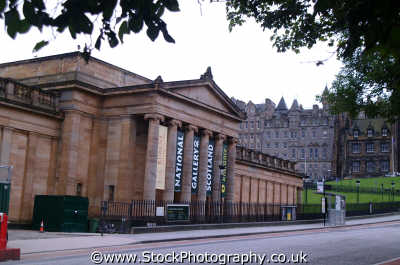 edinburgh national gallery scotland uk art galleries british architecture architectural buildings midlothian central scottish scotch scots escocia schottland united kingdom